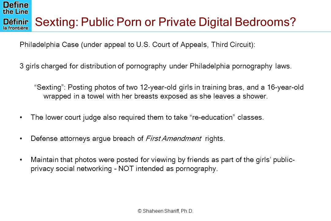 Sexting: Public Porn or Private Digital Bedrooms
