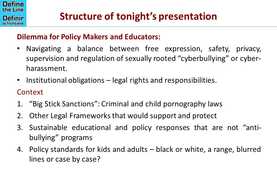 Structure of tonight's presentation
