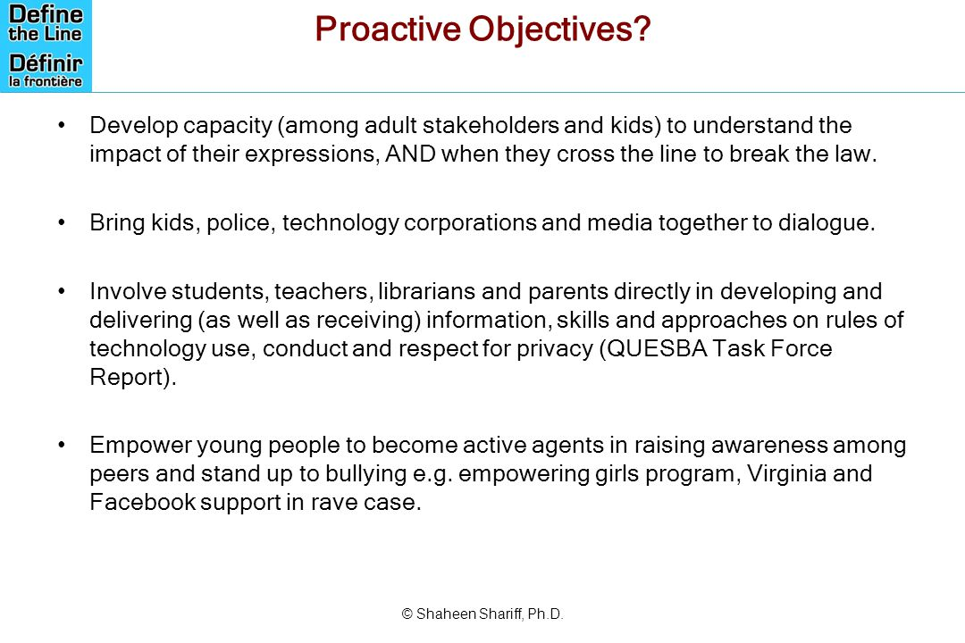 Proactive Objectives