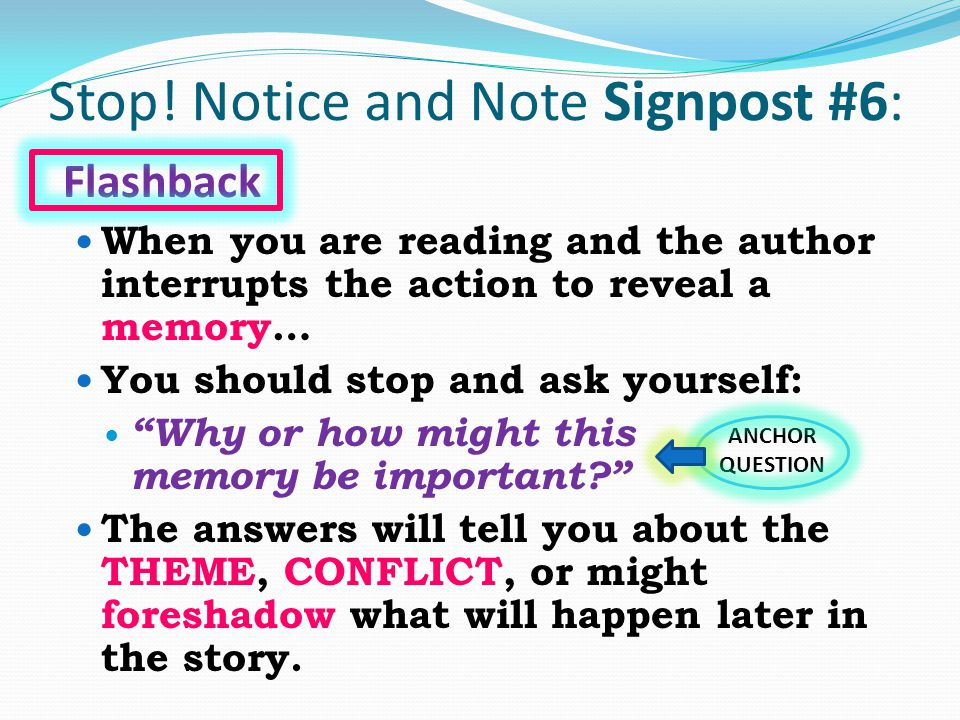 Stop! Notice and Note Signpost #6: