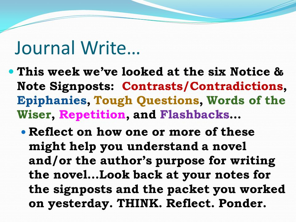 Journal Write…