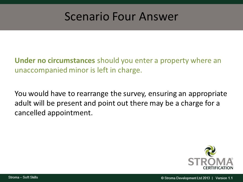 Scenario Four Answer