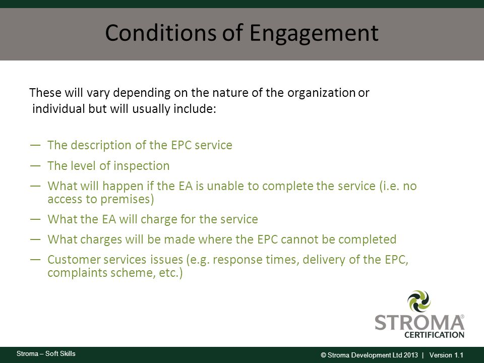 Conditions of Engagement