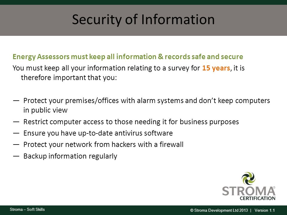 Security of Information