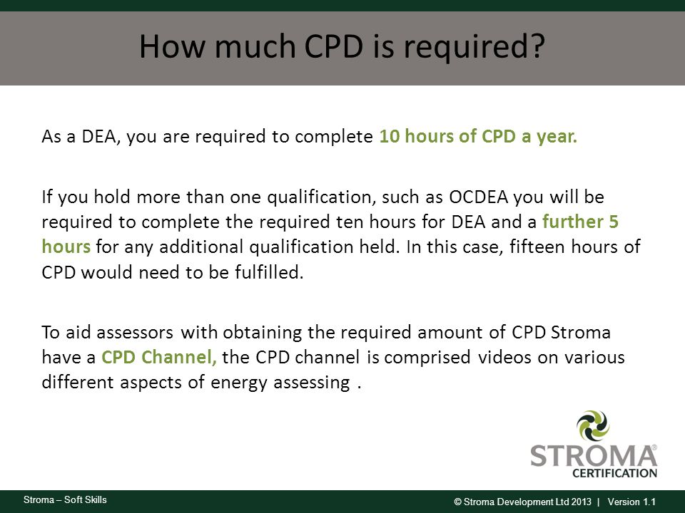 How much CPD is required