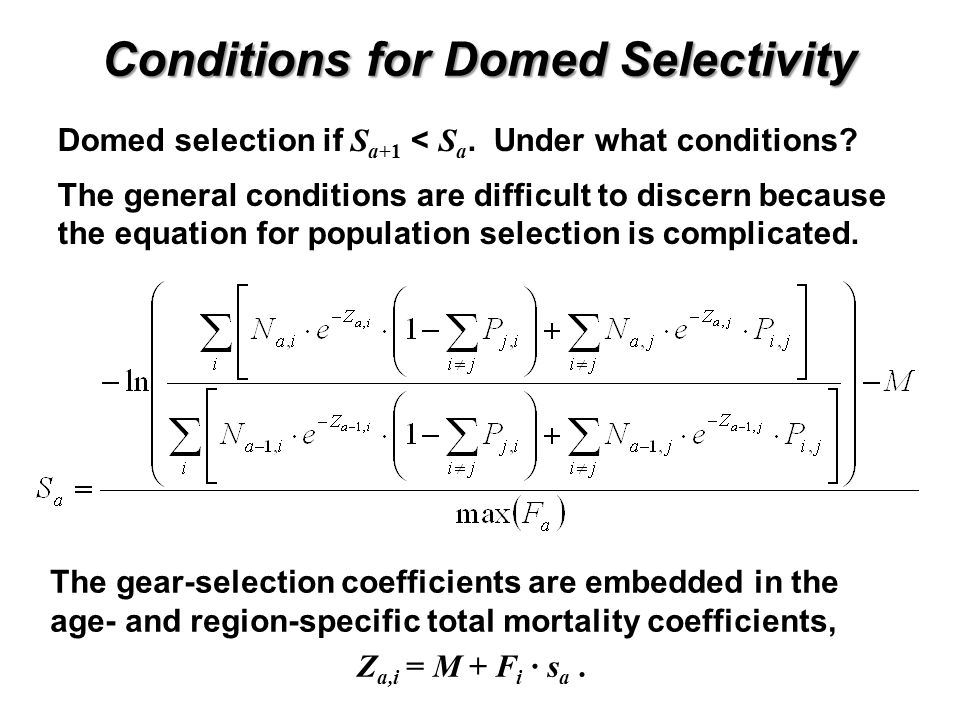 Conditions for Domed Selectivity