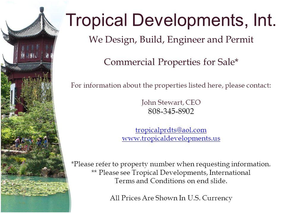 Tropical Developments, Int