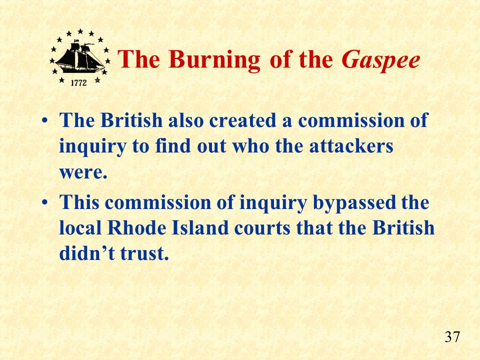 The British also created a commission of inquiry to find out who the attackers were.