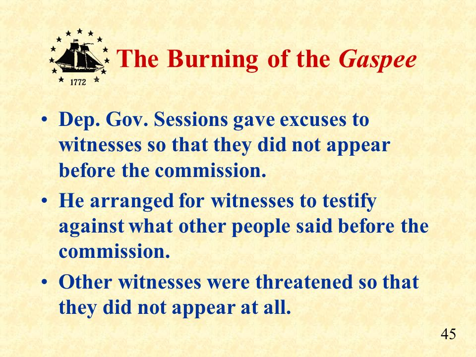 Dep. Gov. Sessions gave excuses to witnesses so that they did not appear before the commission.