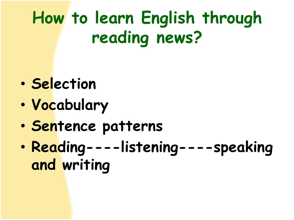 How to learn English through reading news