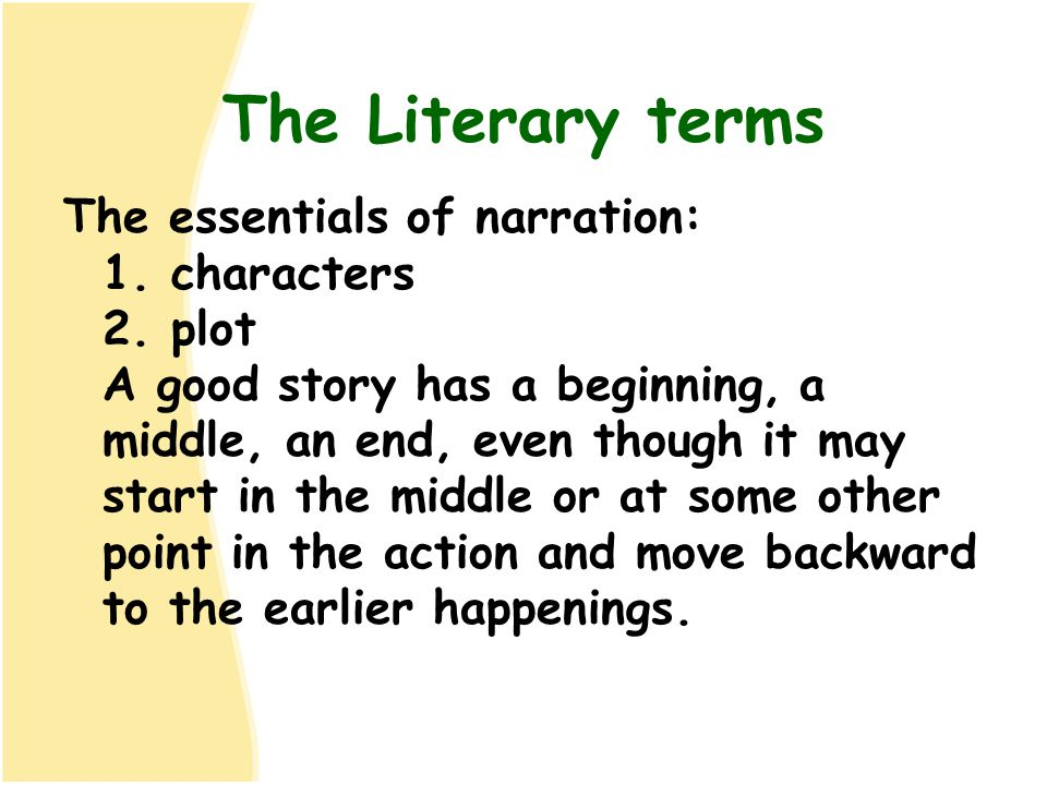 The Literary terms