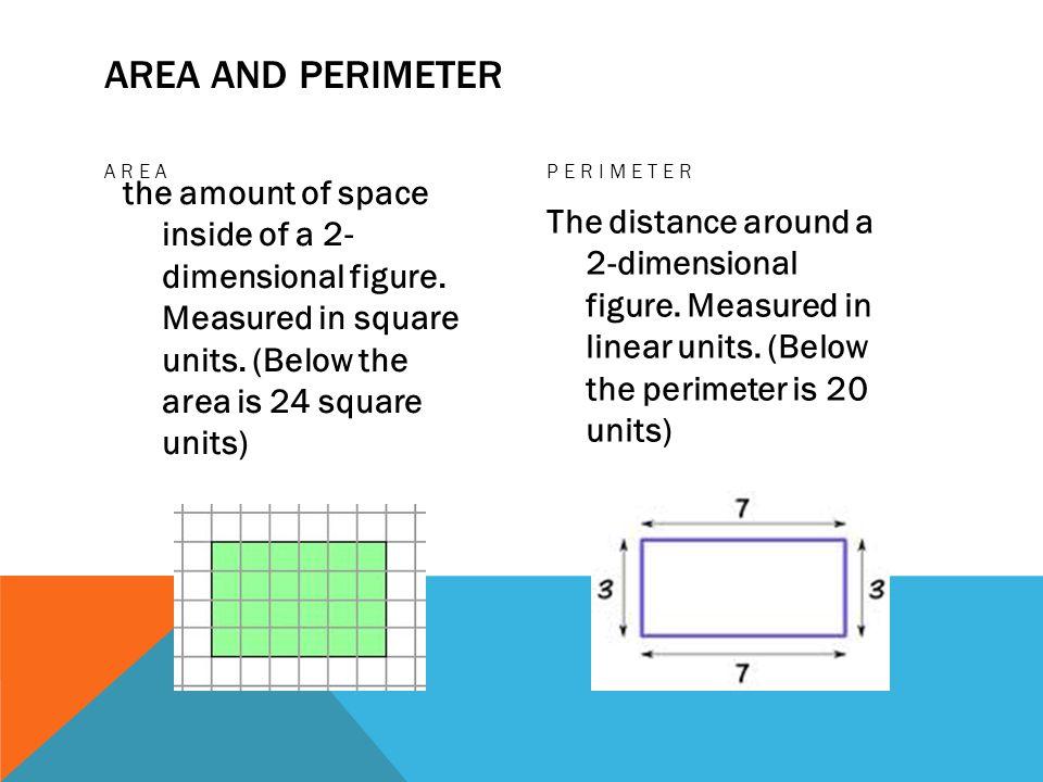 Area and Perimeter Area. Perimeter.