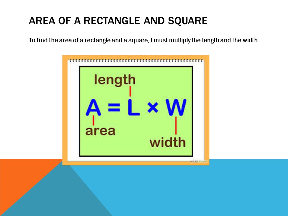 Area of a rectangle and square
