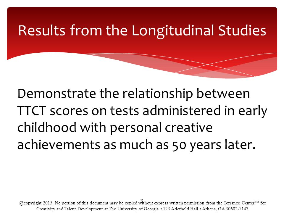Results from the Longitudinal Studies