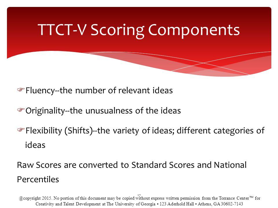 TTCT-V Scoring Components