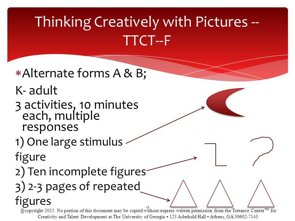 Thinking Creatively with Pictures -- TTCT--F