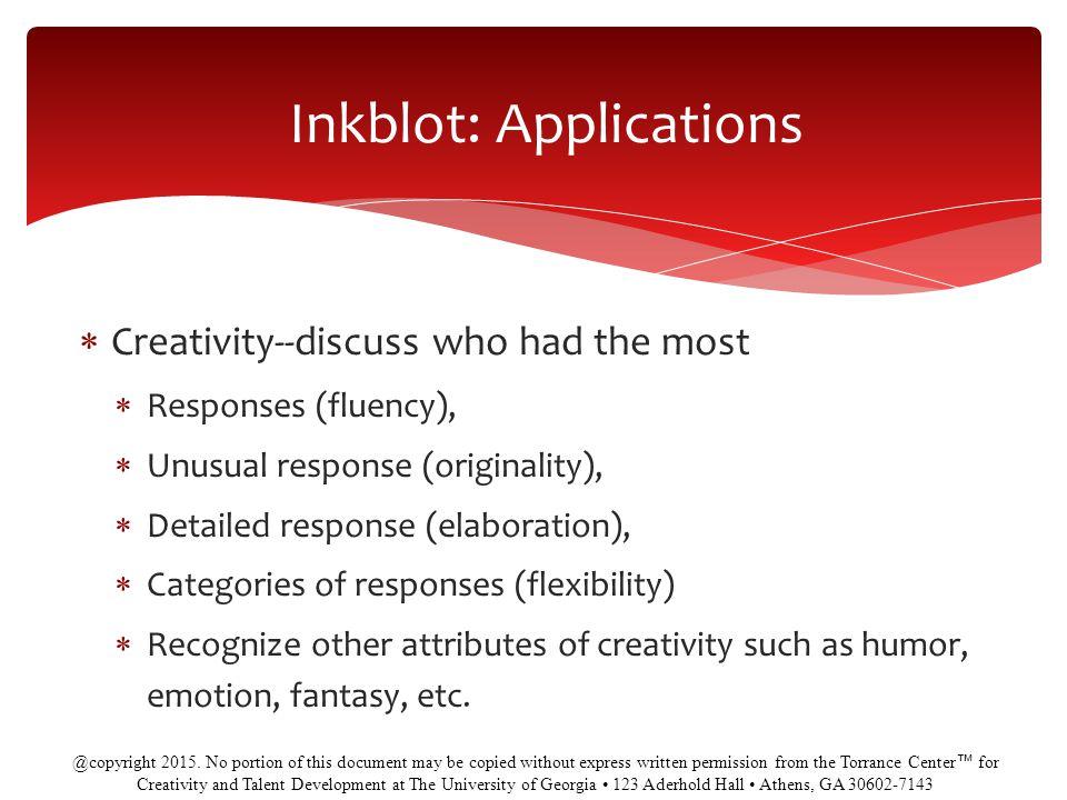 Inkblot: Applications