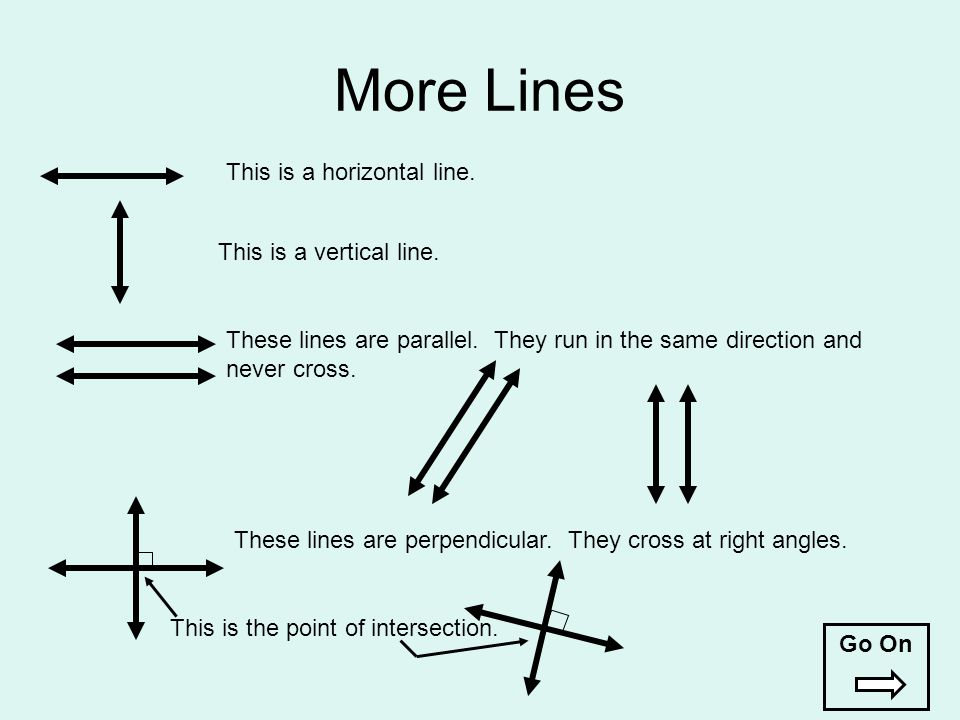 More Lines This is a horizontal line. This is a vertical line.