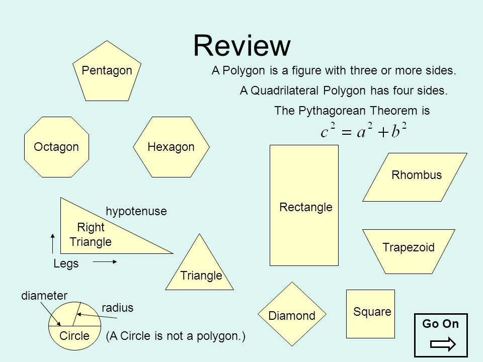 Review Pentagon A Polygon is a figure with three or more sides.