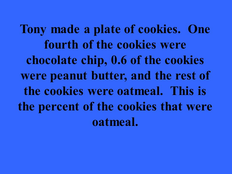 Tony made a plate of cookies