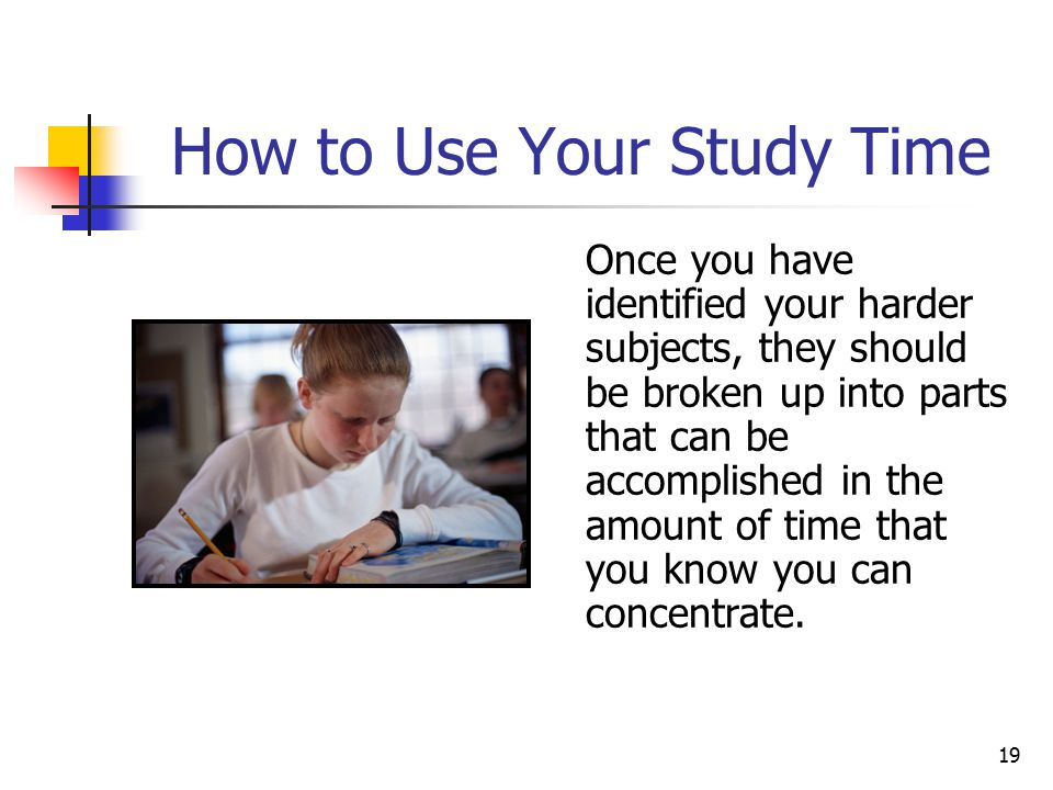 How to Use Your Study Time