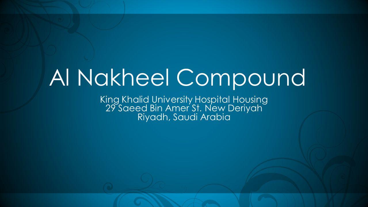Al Nakheel Compound King Khalid University Hospital Housing