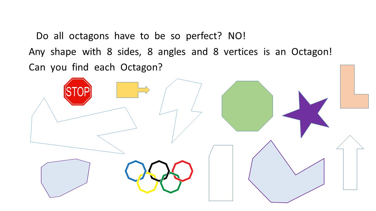 Do all octagons have to be so perfect. NO