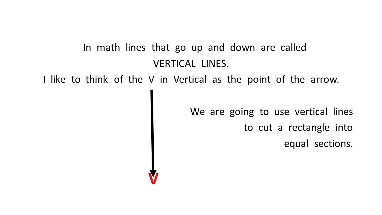 In math lines that go up and down are called VERTICAL LINES
