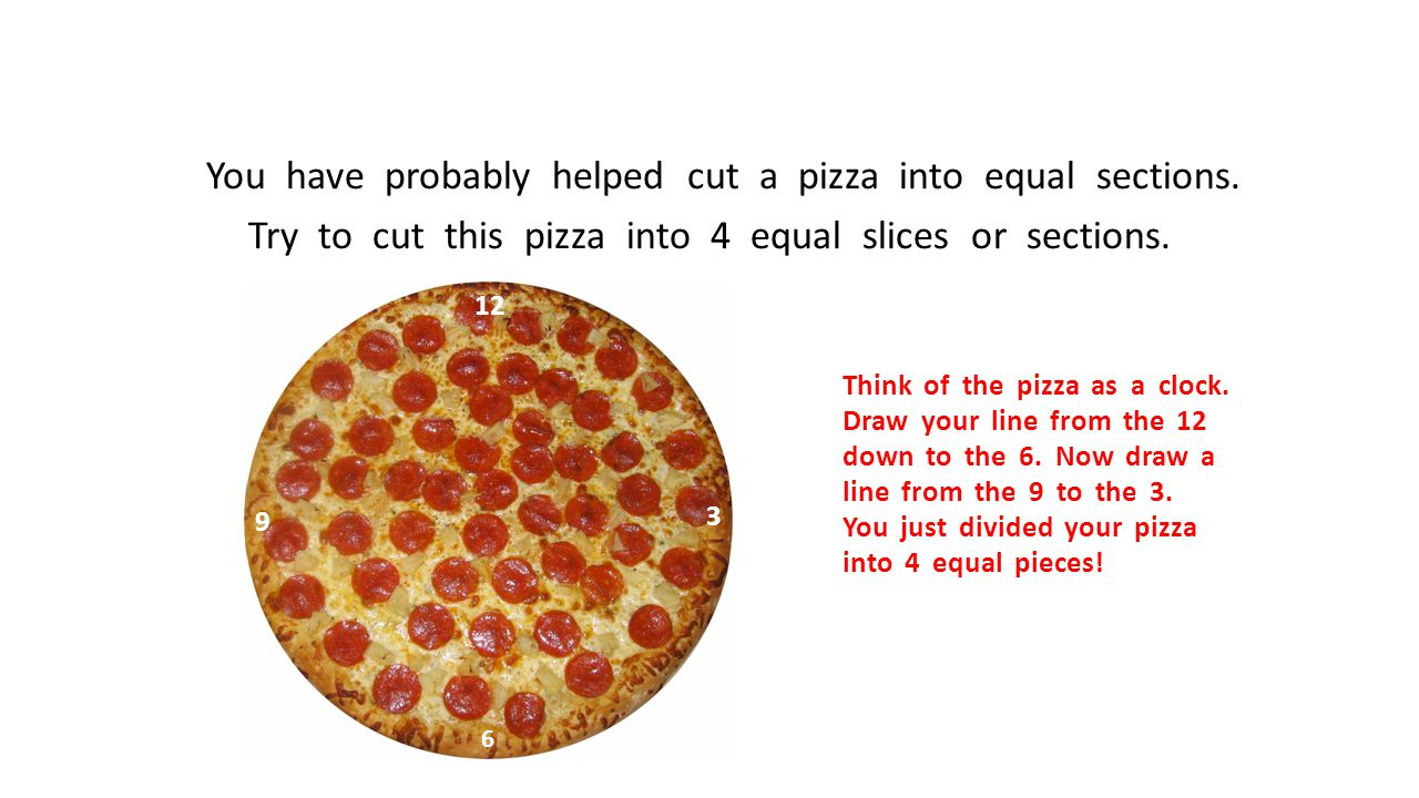 You have probably helped cut a pizza into equal sections