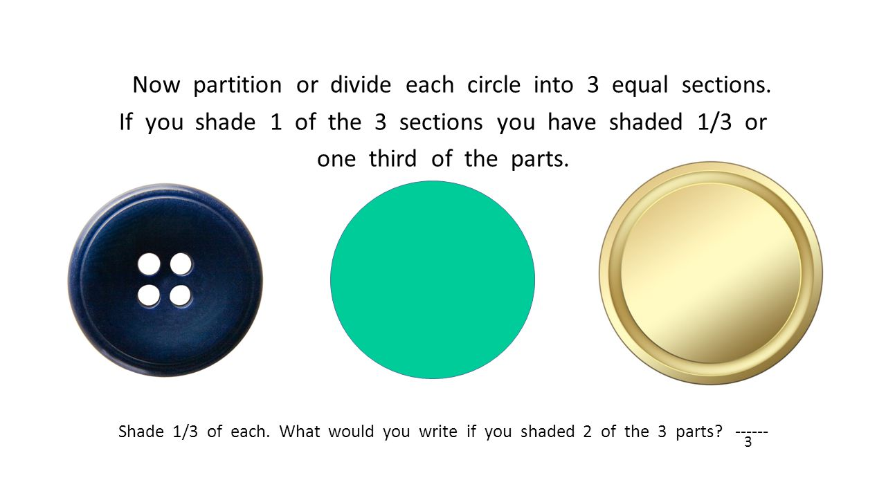 Now partition or divide each circle into 3 equal sections.