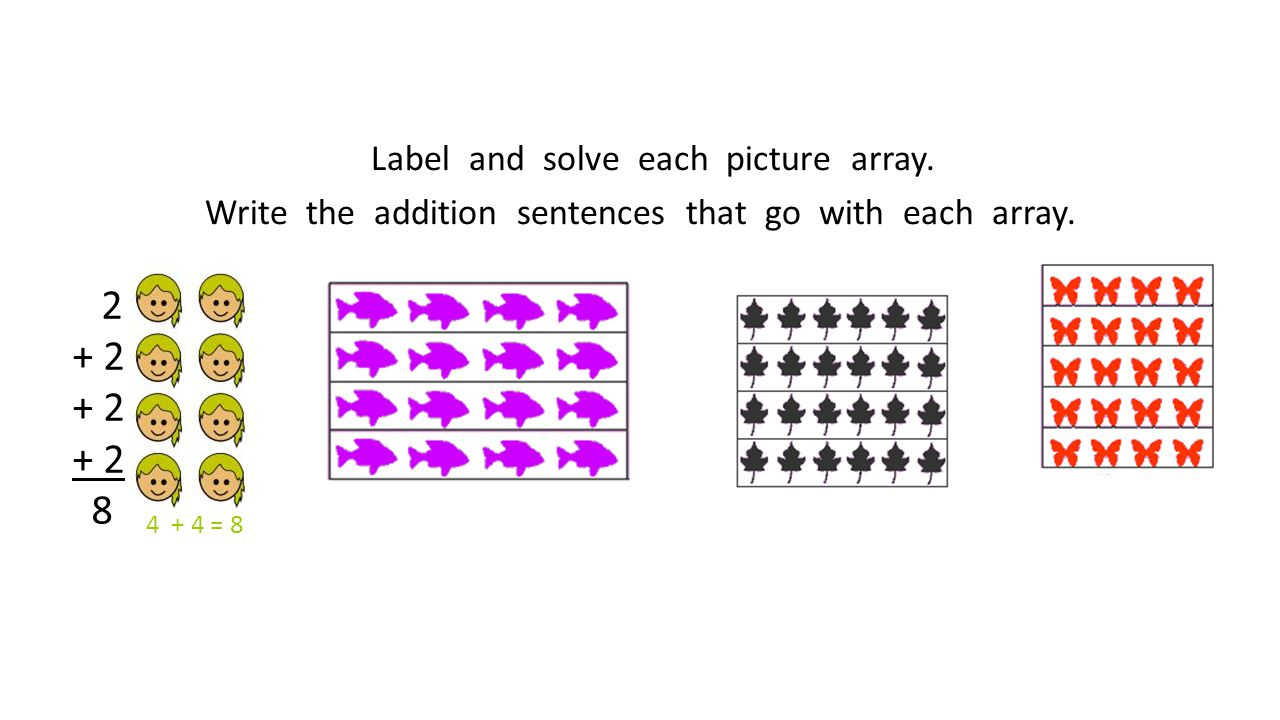 Label and solve each picture array