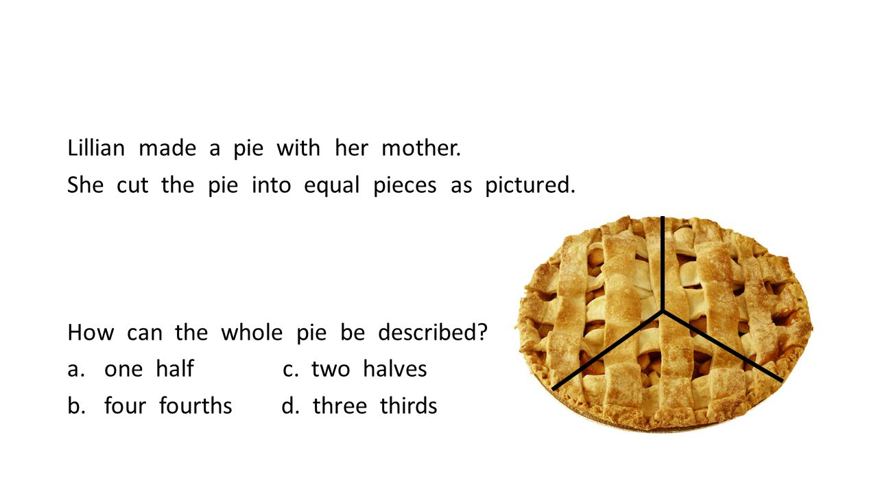 Lillian made a pie with her mother.