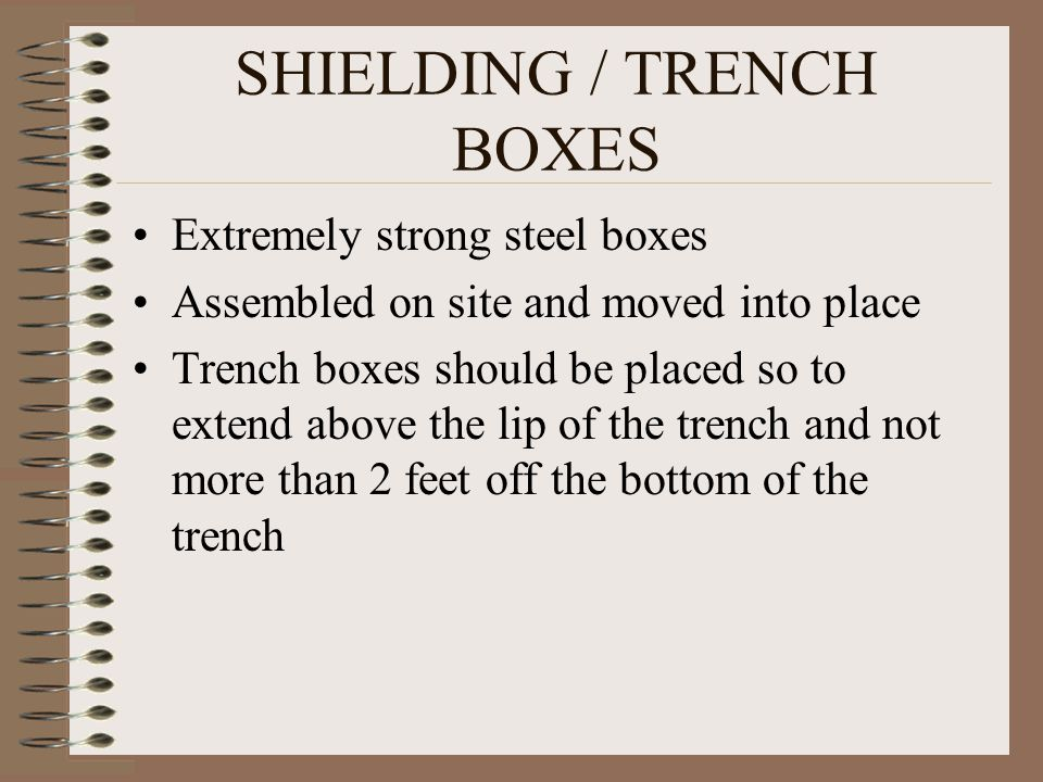 SHIELDING / TRENCH BOXES