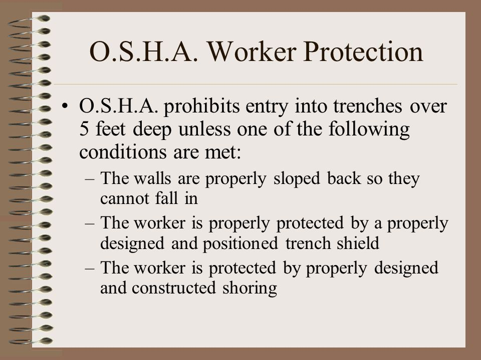 O.S.H.A. Worker Protection