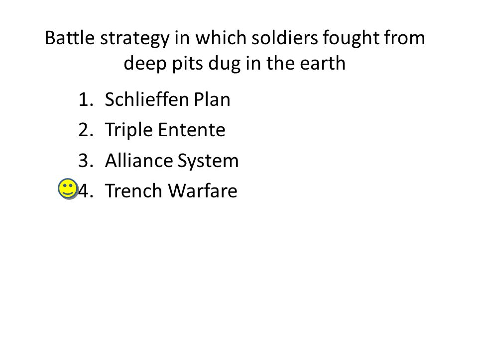 Battle strategy in which soldiers fought from deep pits dug in the earth