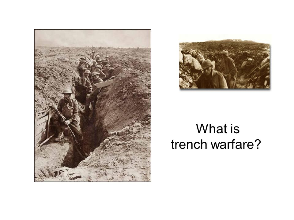 What is trench warfare