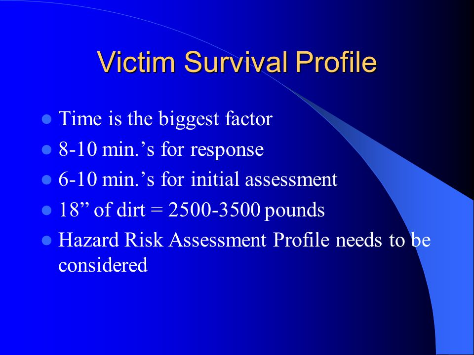 Victim Survival Profile