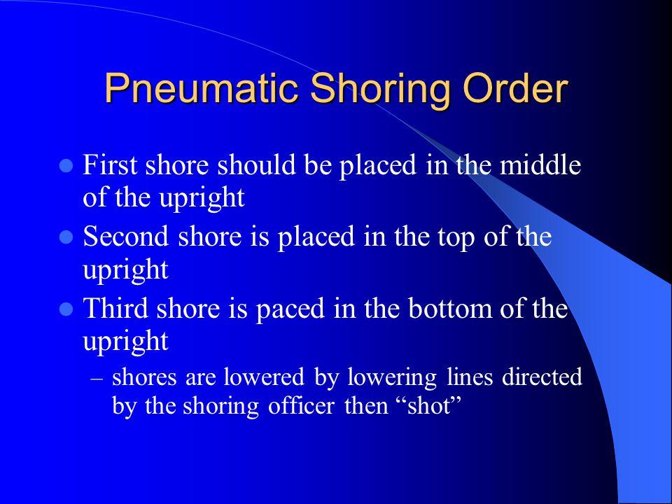 Pneumatic Shoring Order
