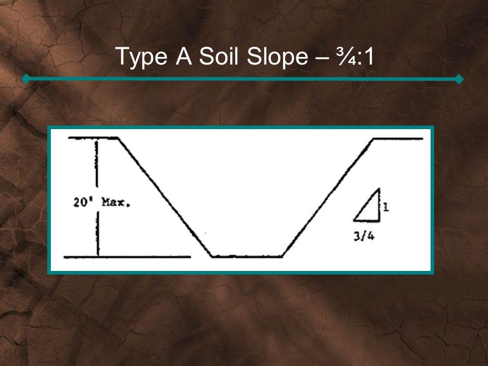 Type A Soil Slope – ¾:1