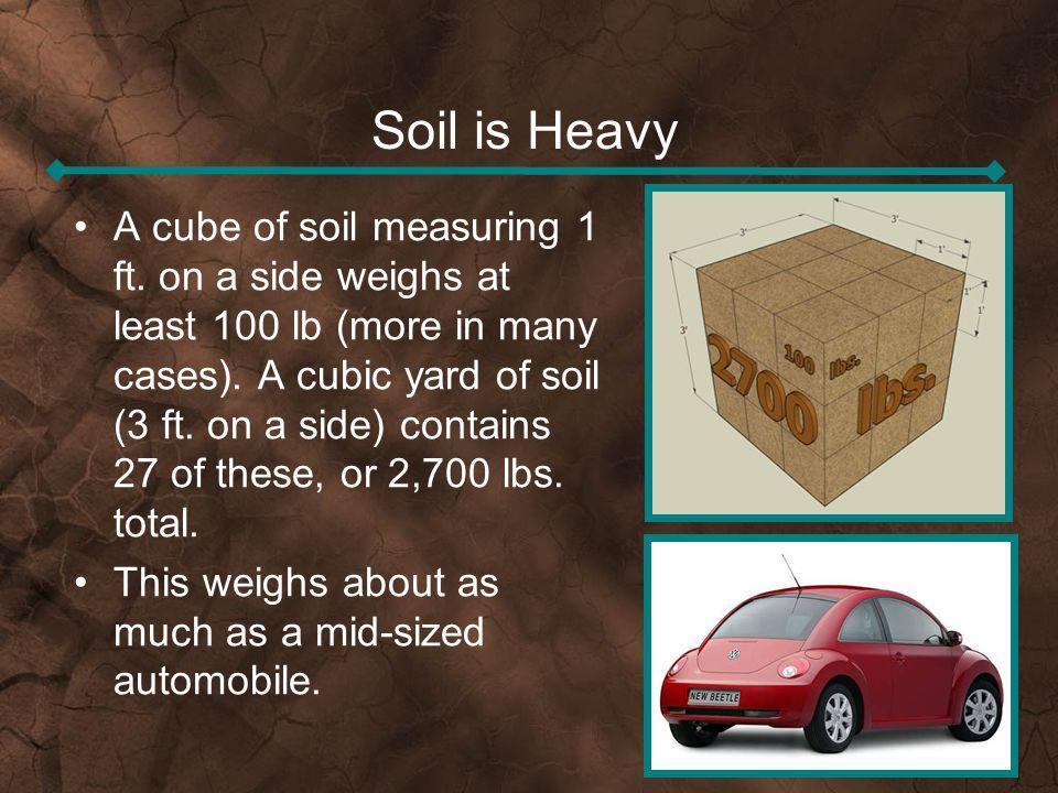 Soil is Heavy