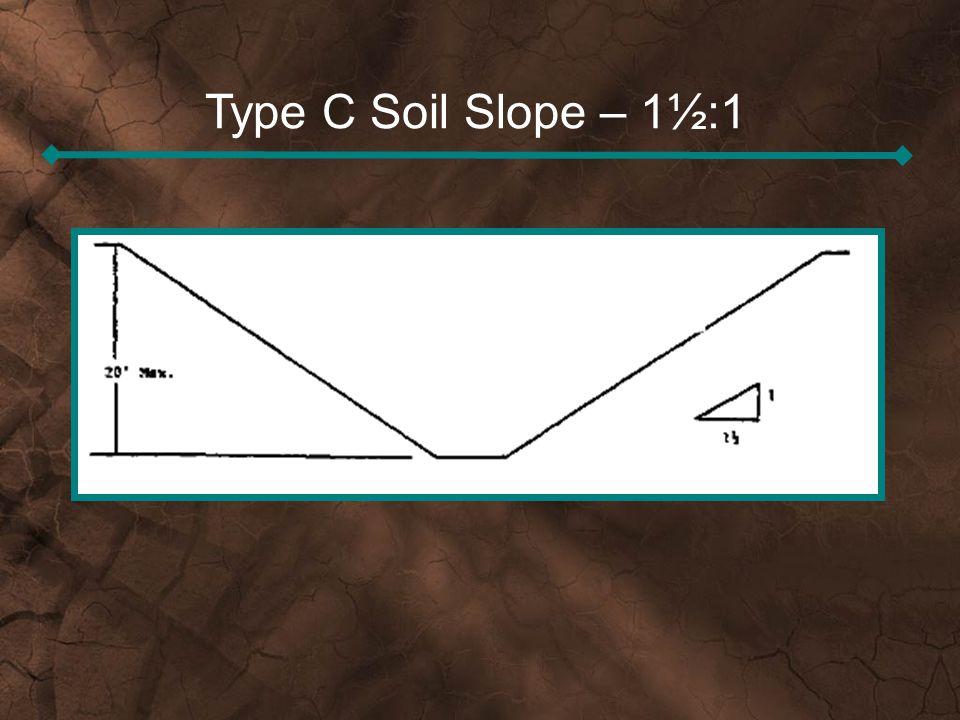 Type C Soil Slope – 1½:1