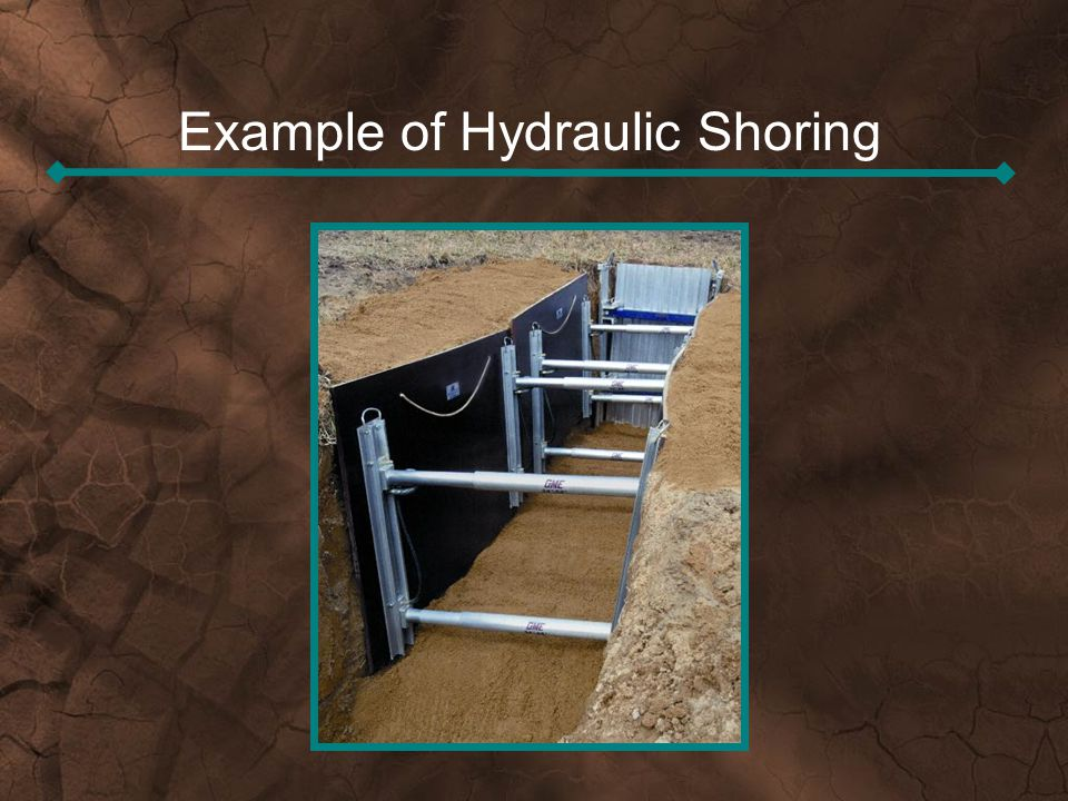 Example of Hydraulic Shoring