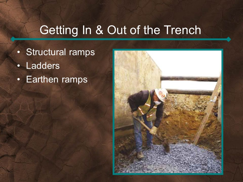 Getting In & Out of the Trench