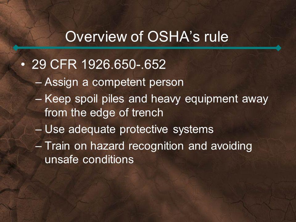 Overview of OSHA's rule