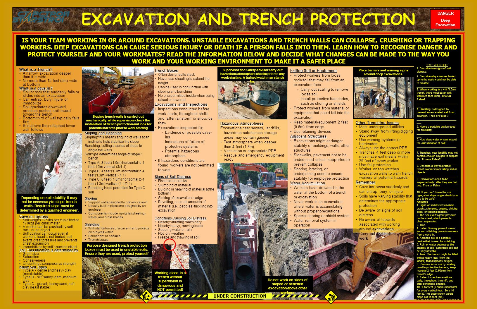 EXCAVATION AND TRENCH PROTECTION