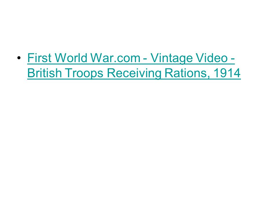 First World War.com - Vintage Video - British Troops Receiving Rations, 1914