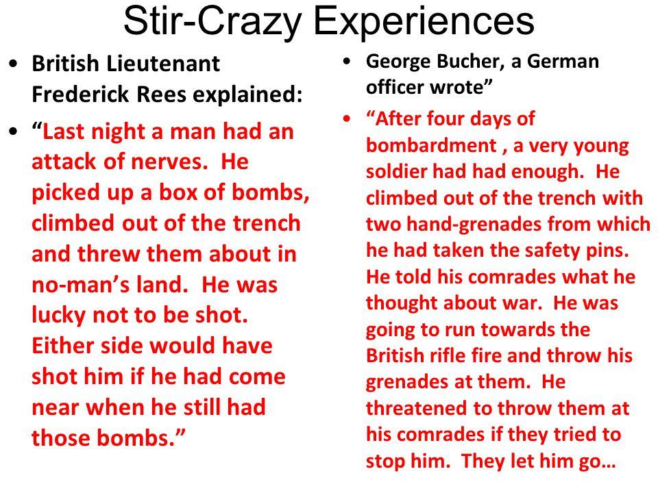 Stir-Crazy Experiences