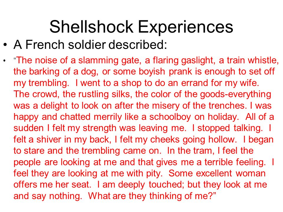 Shellshock Experiences