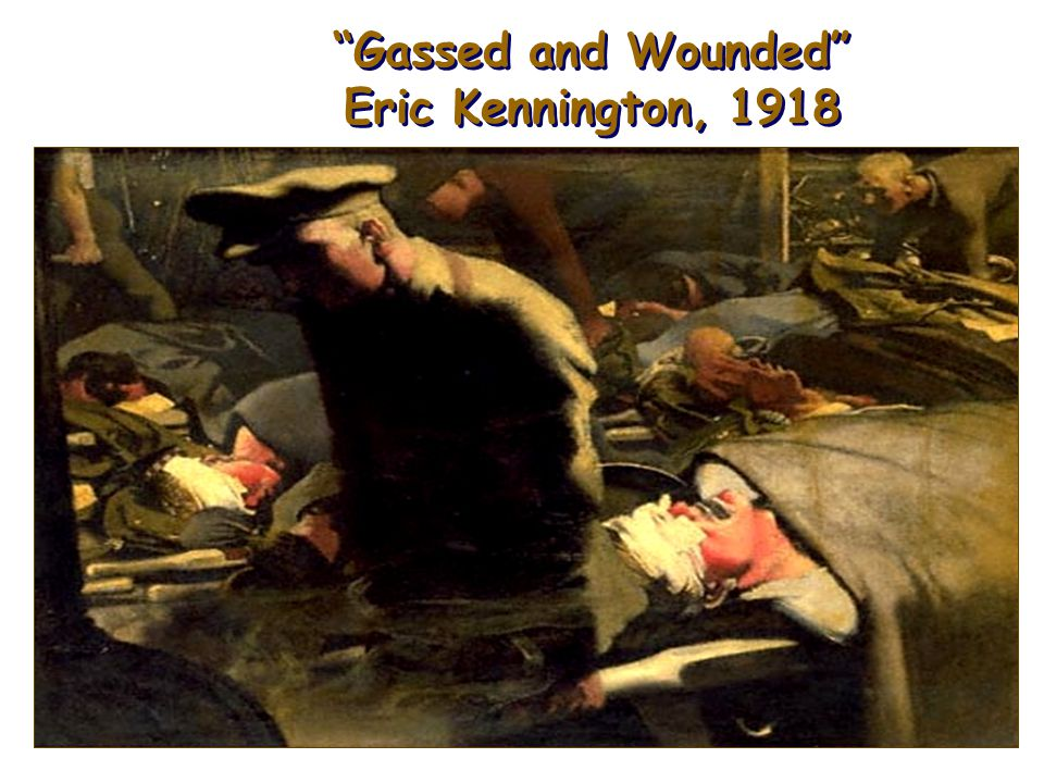 Gassed and Wounded Eric Kennington, 1918