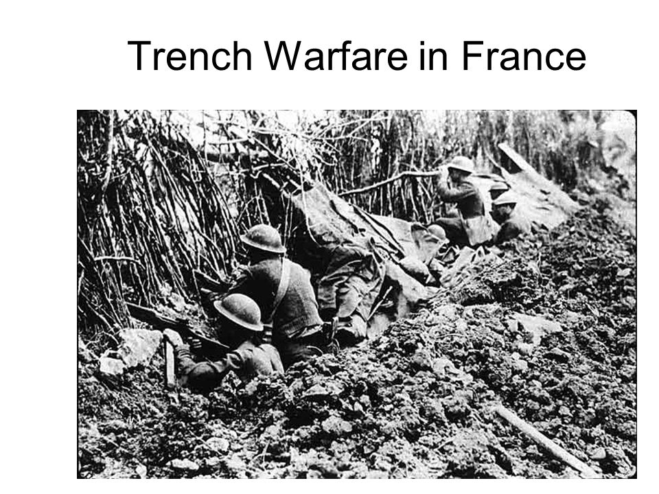 Trench Warfare in France